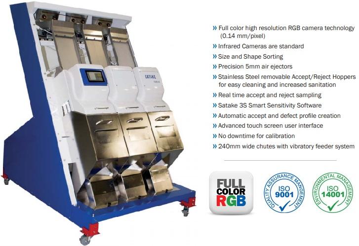 Full Color RGB Sorter Optical Sorting Machine - Satake RNEZS